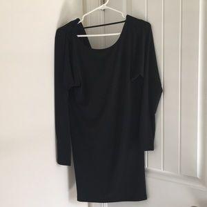 BCBG LONG SLEEVE BLACK DRESS
